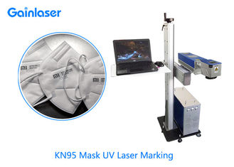 ±0.01mm AC110V Flying UV Laser Marking System For Plastic